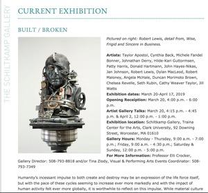Built/Broken Exhibition at Clark University